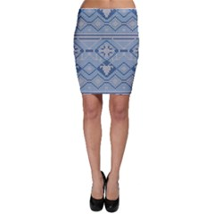 Beautiful Knitted Christmas Pattern Bodycon Skirt