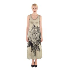 Owl On A Dreamcatcher Sleeveless Maxi Dress