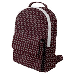 Grey Star Navy Burgundy Flap Pocket Backpack (small)