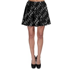 Black And White Ethnic Geometric Pattern Skater Skirt by dflcprintsclothing