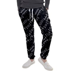 Black And White Ethnic Geometric Pattern Men s Jogger Sweatpants by dflcprintsclothing