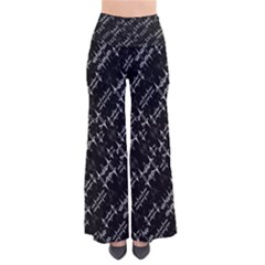 Black And White Ethnic Geometric Pattern So Vintage Palazzo Pants by dflcprintsclothing