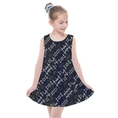 Black And White Ethnic Geometric Pattern Kids  Summer Dress by dflcprintsclothing