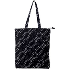 Black And White Ethnic Geometric Pattern Double Zip Up Tote Bag by dflcprintsclothing