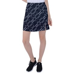 Black And White Ethnic Geometric Pattern Tennis Skirt by dflcprintsclothing