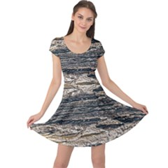 Surface Texture Print Cap Sleeve Dress by dflcprintsclothing