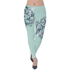 Holiday 2019 Snowflake Velvet Leggings by TrueAwesome