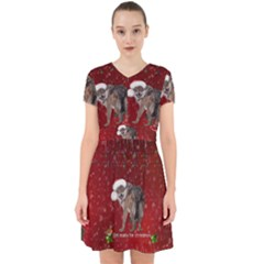 I m Ready For Christmas, Funny Wolf Adorable In Chiffon Dress
