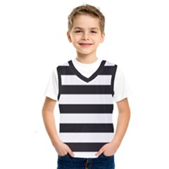 Black And White Large Stripes Goth Mime French Style Kids  Sportswear by genx