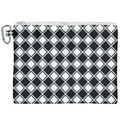 Square Diagonal Pattern Seamless Canvas Cosmetic Bag (xxl)