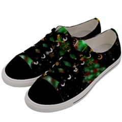 Christmas Star Jewellery Men s Low Top Canvas Sneakers by Alisyart