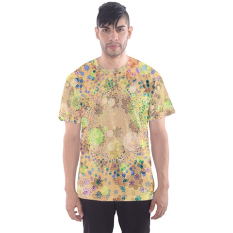 Flowers Color Colorful Watercolour Men s Sports Mesh Tee by HermanTelo