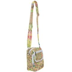 Flowers Color Colorful Watercolour Shoulder Strap Belt Bag by HermanTelo