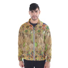 Flowers Color Colorful Watercolour Men s Windbreaker