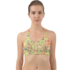 Flowers Color Colorful Watercolour Back Web Sports Bra