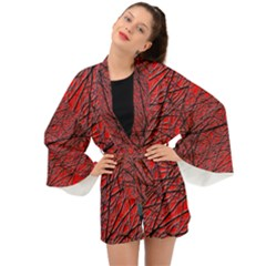 Neurons Cells Train Link Brain Long Sleeve Kimono
