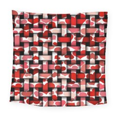 Background Red Summary Square Tapestry (large)