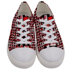 Background Red Summary Women s Low Top Canvas Sneakers