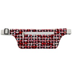 Background Red Summary Active Waist Bag