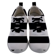 Black And White Large Stripes Goth Mime French Style Women Athletic Shoes by genx
