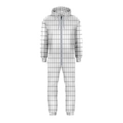 Aesthetic Black And White Grid Paper Imitation Hooded Jumpsuit (kids) by genx