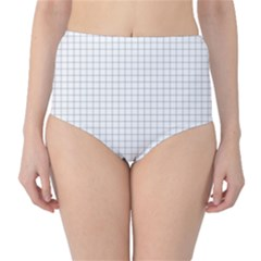 Aesthetic Black And White Grid Paper Imitation Classic High-waist Bikini Bottoms by genx