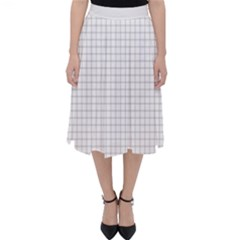Aesthetic Black And White Grid Paper Imitation Classic Midi Skirt by genx