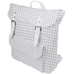 Aesthetic Black And White Grid Paper Imitation Buckle Up Backpack by genx