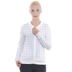Aesthetic Black And White Grid Paper Imitation Casual Zip Up Jacket by genx