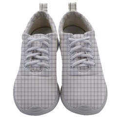Aesthetic Black And White Grid Paper Imitation Mens Athletic Shoes by genx