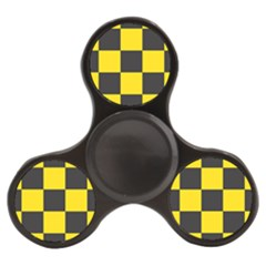 Checkerboard Pattern Black And Yellow Ancap Libertarian Finger Spinner by snek
