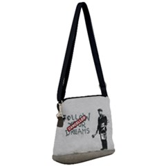 Banksy Graffiti Original Quote Follow Your Dreams Cancelled Cynical With Painter Zipper Messenger Bag by snek