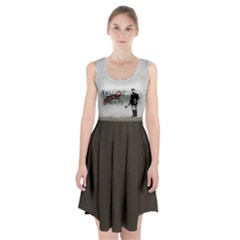 Banksy Graffiti Original Quote Follow Your Dreams Cancelled Cynical With Painter Racerback Midi Dress by snek