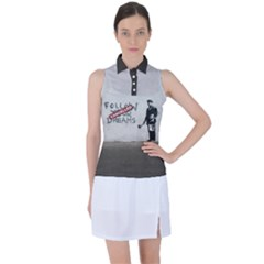 Banksy Graffiti Original Quote Follow Your Dreams Cancelled Cynical With Painter Women s Sleeveless Polo Tee by snek