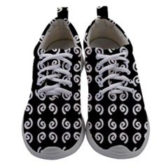 Pattern Formes Ronds Noir Women Athletic Shoes by kcreatif