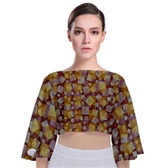 Zappwaits Fantastic Tie Back Butterfly Sleeve Chiffon Top