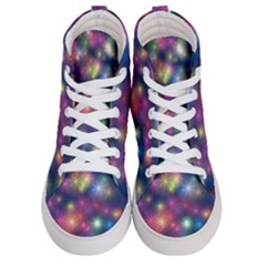 Abstract Background Graphic Space Men s Hi Top Skate Sneakers