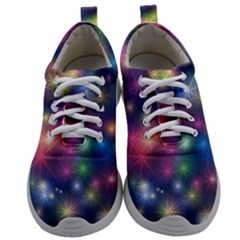 Abstract Background Graphic Space Mens Athletic Shoes by Bajindul