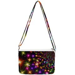 Star Colorful Christmas Abstract Double Gusset Crossbody Bag
