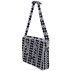 White Plaid Texture Cross Body Office Bag