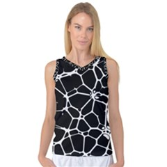 Neurons Braid Network Wattle Yarn Women s Basketball Tank Top