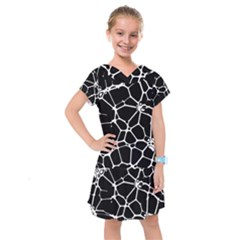 Neurons Braid Network Wattle Yarn Kids  Drop Waist Dress