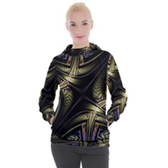 Fractal Texture Pattern Women s Hooded Pullover
