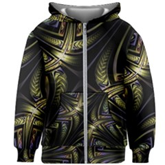 Fractal Texture Pattern Kids  Zipper Hoodie Without Drawstring