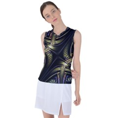 Fractal Texture Pattern Women s Sleeveless Sports Top by HermanTelo