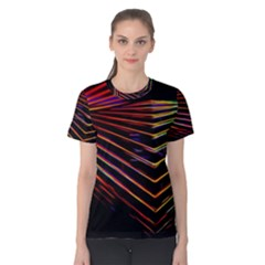 Abstract Neon Background Light Women s Cotton Tee