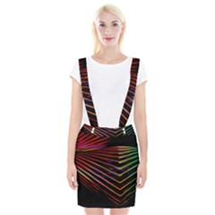Abstract Neon Background Light Braces Suspender Skirt
