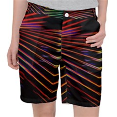 Abstract Neon Background Light Pocket Shorts