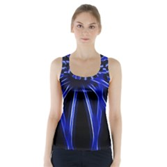 Light Effect Blue Bright Design Racer Back Sports Top by HermanTelo