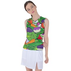 Vegetables Bell Pepper Broccoli Women s Sleeveless Sports Top by HermanTelo